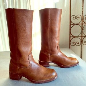 Frye Campus 14G Size 8.5 Chestnut Leather Boots